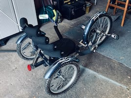 3 wheeled recumbent bike  I paid $500 new was only ridden 4 times.