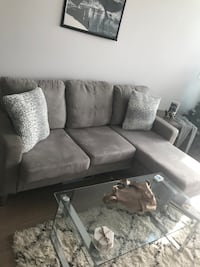 Grey sectional (pillows not included)