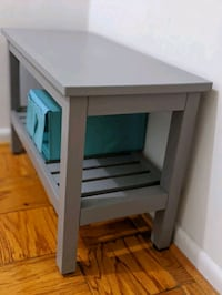Barely used gray bench- perfect for hallways/shoes