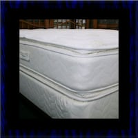 Twin mattress double pillotop with box spring Ashburn