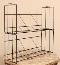 Black Wire Wall Shelves, Stackable, Set of 6