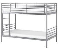 White metal bunk bed frame Alexandria, 22312