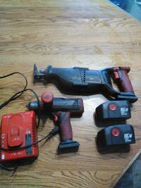 Snap on drill and reciprocating saw
