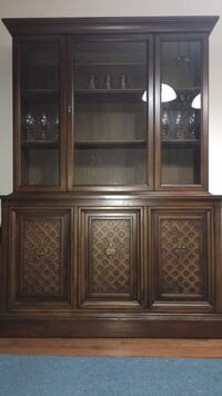 brown wooden framed glass display cabinet Guelph, N1K 1W9