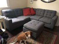 Gray fabric sectional sofa with ottoman New Orleans, 70115