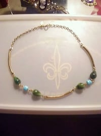 gold-colored and green beaded necklace Orrville, 44667