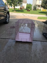 Dog crates pink $35 black $25 Broadview Heights