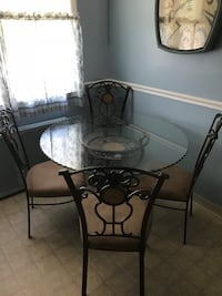 Glass Kitchen Table with Chairs Bayonne, 07002