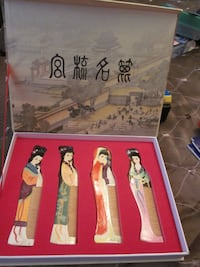 NEVER USED-4 CHINESE BEAUTIES COMBS