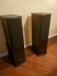 Tower Speakers w/15 inch Subwoofer