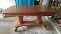 Antique oak executive desk