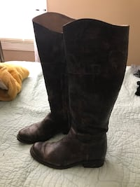 Distressed brown leather Steve Madden boots size 8 Tenino, 98589