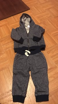 Navy blue Toddler zipped-up hoodie and pants