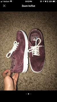 pair of brown-and-white Vans suede low-top shoes screenshot Tomball, 77375