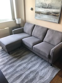 Gray Reversible Sectional Couch