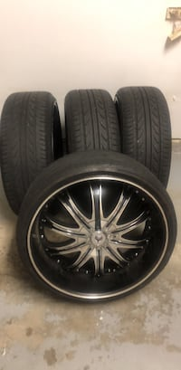 """5/114 5/120 Tires and rams 22"""" 265/30rx22 Charlotte, 28277"""