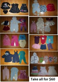 6-12 Mths Baby Girls Clothing Lot 2 (Take 40 Piece Mississauga