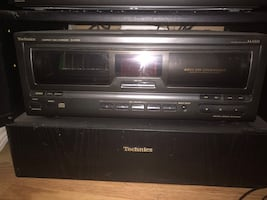 stereo receiver  Equalizer   cassette deck Compact disc changer Stand