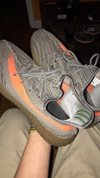 Pair of gray adidas yeezy boost 350 Chester, 23831