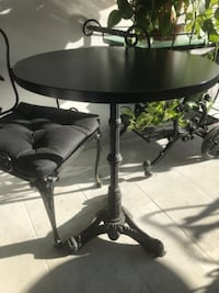 Bistro table iron bottom 2 tables round tops 21 inches  MONTREAL