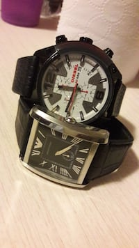Armani and diesel watch