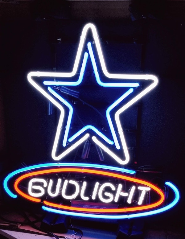 d4500f72eab Used Bud Light Dallas Cowboys NFL Real Neon Glass Tube Neon Sign for sale  in Houston - letgo