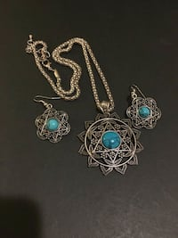 Turquoise Necklace-Earings Set Chelsea, 02150