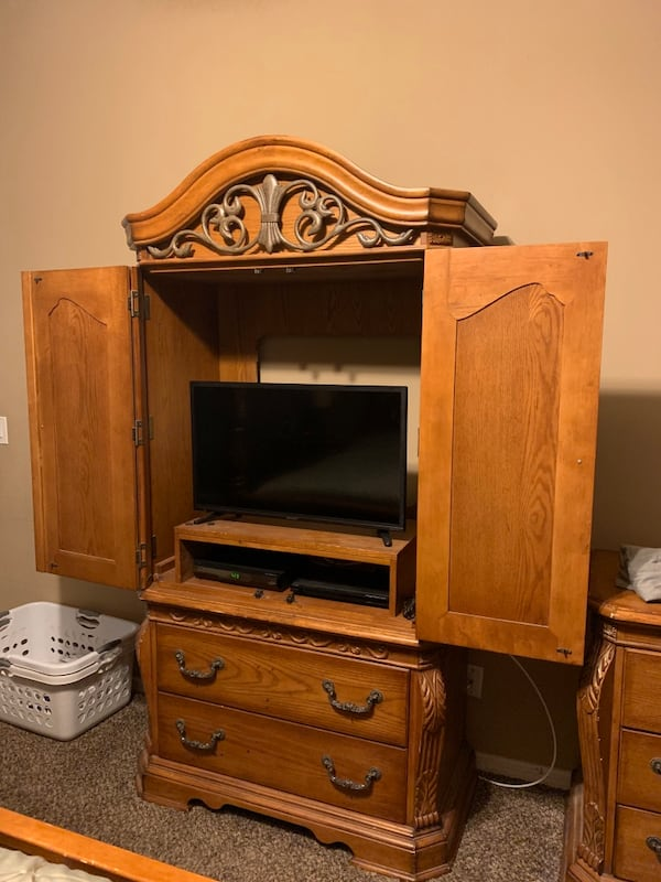 Used Santa Barbara bedroom set from Ashley's with matching ...