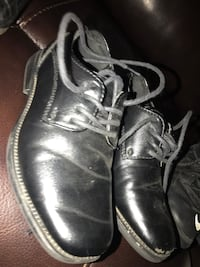pair of black leather lace-up boots Los Banos, 93635