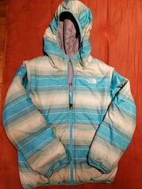 Girls North Face Goose Down Reversible Coat Silver Spring, 20904