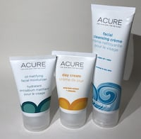 Acure Facial Cleansing Creme Oil Matifying Moisturizer Day Cream Lot 3 PCS Doral, 33166