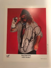 Mankind Official WWF / WWE Promo Signed with proof Englishtown, 07726