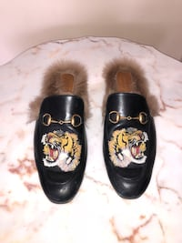 Authentic Gucci tiger slides with fur. Original price $1350 Calgary, T1Y 7G6