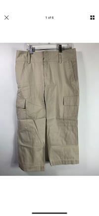 NEw Banana Republic Women's Light Beige Utility Cargo Pants-Size 6 Nottingham, 03290