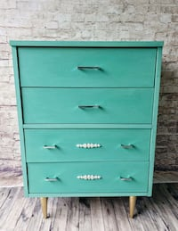 teal wooden 4-drawer chest Mississauga