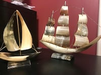 Gorgeous sail ships from horn and wire