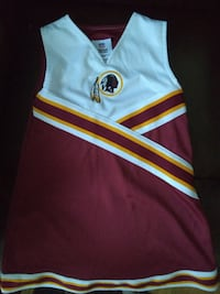 Redskins cheer outfit for girls