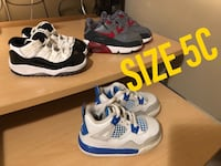 Jordans and airmax toddler shoes SIZE 5C and 6C Surrey, V3W 1Y7