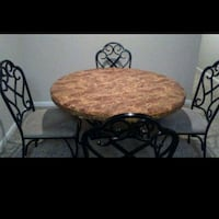 brown wooden table with two chairs Atlanta, 30329