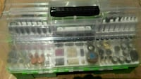 green and clear plastic organizer box Dollard-des-Ormeaux