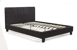 BRAND NEW LEATHER PLATFORM BEDS ON SALE NOW