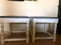 Two distressed end tables Henderson, 89074