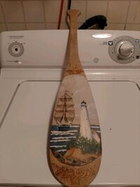 Hand made wooden paddle