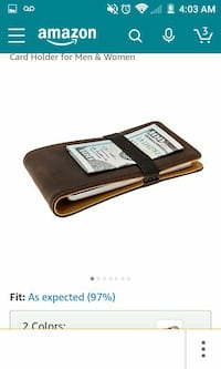 brown leather wallet screenshot