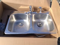 gray stainless steel sink with faucet Parksville, V9P 2R1