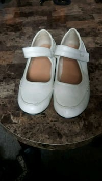pair of white leather mary jane shoes L'Ancienne-Lorette, G2E 3A8