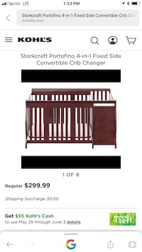 Baby crib with changing table  Houston, 77060
