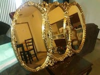 gold-colored and brown wooden framed mirror Columbia, 62236