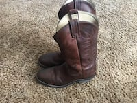 Pair of brown leather cowboy boots Chatham-Kent, N0P 2C0