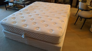 latex bed and box spring